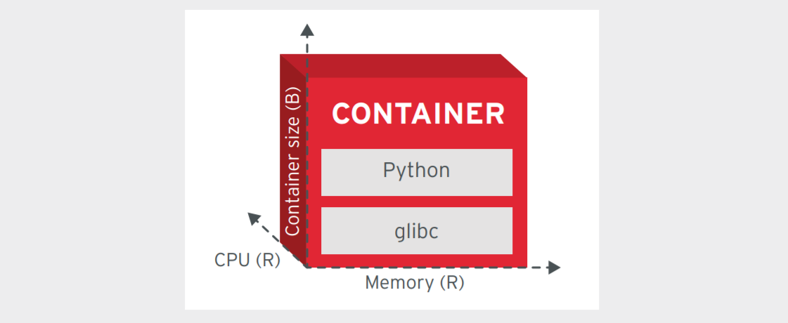 Figure 7. A container that declares its runtime resource requirements and respects them at runtime